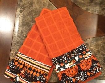 Ruffled Halloween Tea Towel