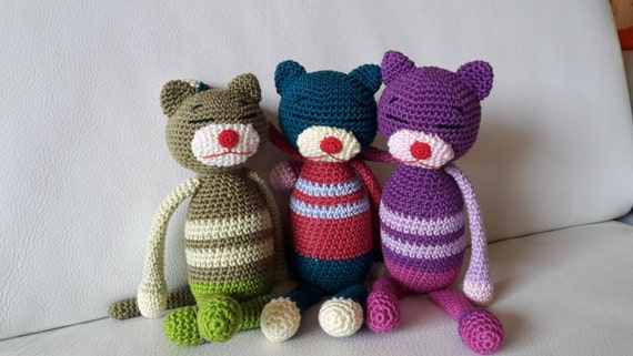 Amigurumi Cat Amineko : AMINEKO. Cat crochet. AMIGURUMI by MesAmisGurumis on Etsy