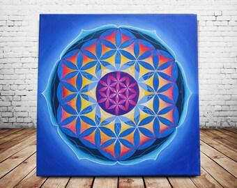 Sacred Geometry Art Mandala Painting Mandala art Sacred Geometry Painting