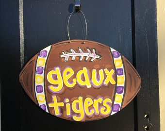 Football door hanger,LSU football door hanger