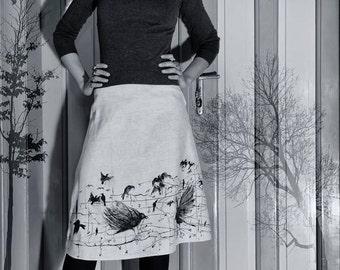 Skirt-Birds flying high....