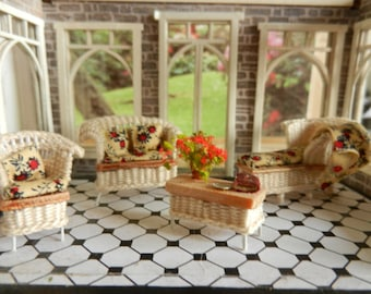 1:48 Wicker Conservatory Set