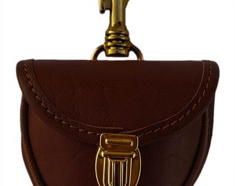 Purse made in Italy craftsmanship for women in brown leather