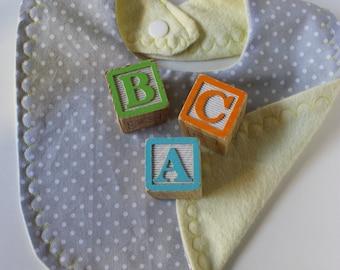 Gender Neutral polka-dot Baby Bib