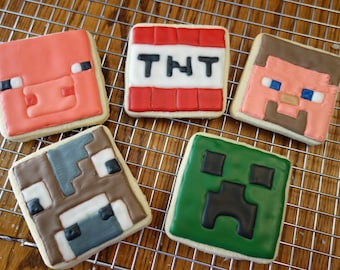 Minecraft Sugar Cookies