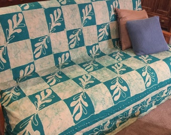 Futon cover with anchor bands, dorm decor, bohemian print with Anchor Bands