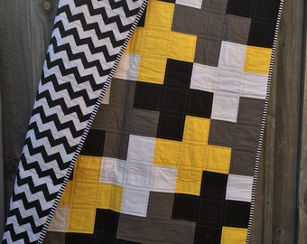 IN STOCK - Modern Plus/Cross Baby/Toddler Quilt