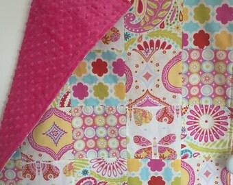 IN STOCK - Patchwork Basinette baby blanket