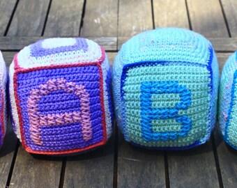 Crochet baby soft blocks / Nursery decoration
