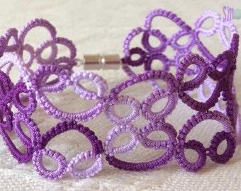 Lace Bracelet: Black Cherry
