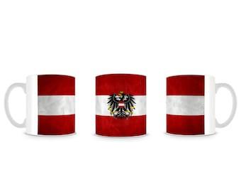 Austrian Flag Austria Österreich Flagge Mug M010
