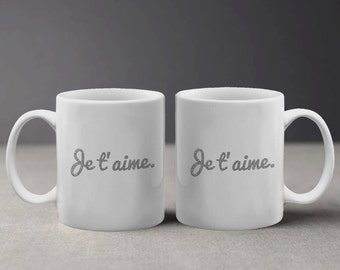 French Je T' Aime I Love You Romantic Quote Mug M577