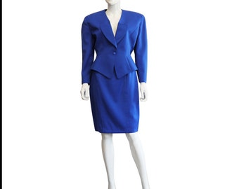 Blue 1980s Thierry Mugler Suit