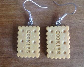 Cookie biscuit earrings