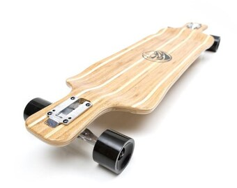 White Wave Bamboo Warrior Longboard
