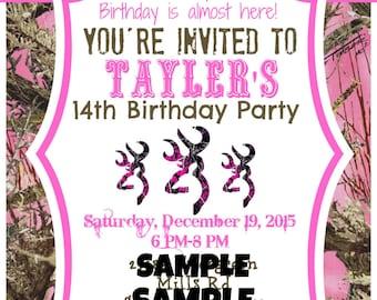 Country Girl's Birthday Invitations