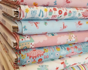 Fabric Makower Tutu collection 100% cotton sewing crafting quilting ballet fairy castles ballerina's ballet shoes by the metre 1/2mtr FQ