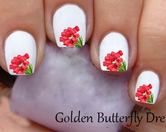 1067 Flowers Waterslide Nail Art Decals Enough For 2 Manicures