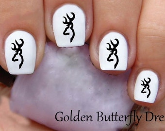 1098 Browning Waterslide Nail Art Decals Enough For 2 Manicures