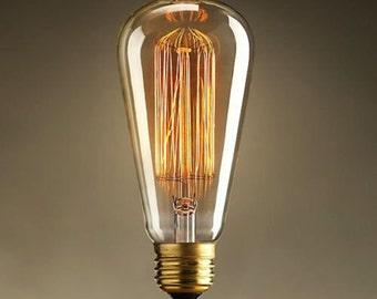 Vintage Light Bulb Retro Edison Style Glass Lamp Droplight E27 40W - ST64