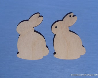 Wooden Easter Rabbit Gift Tag/ Embellishment Craft Blank Shape 8cm x 5cm Pack of 10