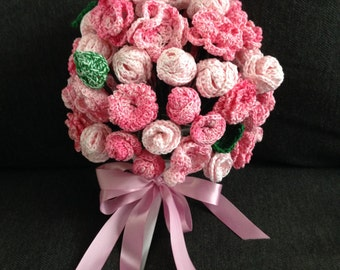Custom Order Crochet Wedding Bouquet
