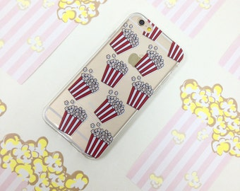 iPhone 6 case Food Popcorn Pattern iPhone 6S Plus iPhone 5 case Clear Samsung Galaxy S6 case Clear Galaxy Edge case Note 5 4 3 2