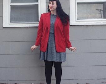Vintage Wool Red Blazer