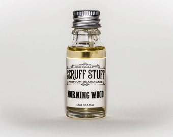 Morning Wood Beard Oil | A beard conditioning oil that stops flaking, hydrates the skin and softens the beard hair >> Plus it smells AWESOME