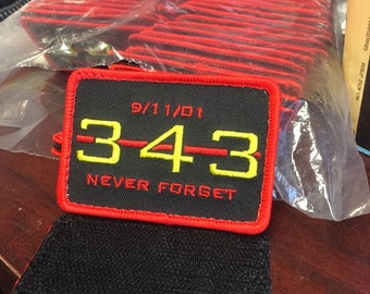 343 patch in honor of all FDNY who perished on 09/11/01 - all proceeds are donated to the stephen siller tunnel to tower foundation.