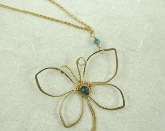 Butterfly London Blue Pendant