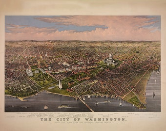Map of Washington, D.C. 1880