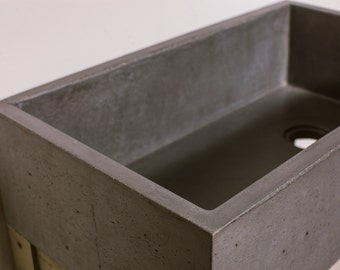 Concrete Farmhouse Kitchen Sink Basin