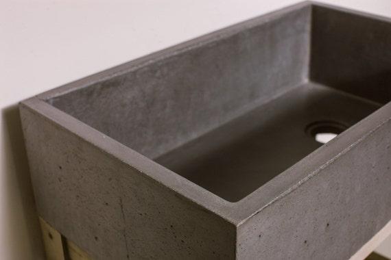 Del fregadero de concreto casa cocina por concretewavedesign