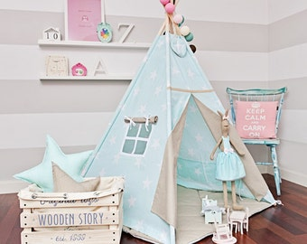 Teepee Tent - Sky Beige