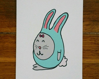 Little Miss Bunny Card