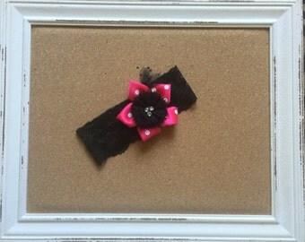 Little Diva Pink/Black headband