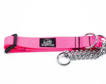 Martingale Collar - Neon Pink