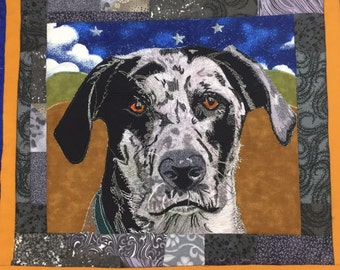 Personalized pet quilt--dog