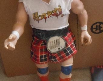 "Vintage 1985 WWE Rowdy Roddy Piper 16"" Action Figure LJN Rare WWF Accessories"