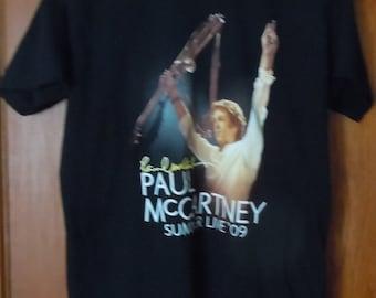 The Beatles band Paul Mccartney t shirt large rock summer live 09 Boston Ma rare