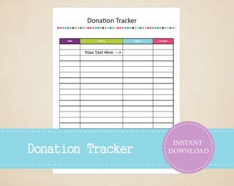 Donation tracker etsy donation tracker budget and finance planner printable and editable instant pdf download sciox Choice Image
