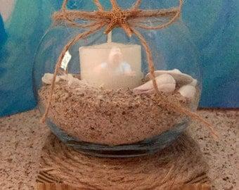 Beach Themed Centerpiece Candle