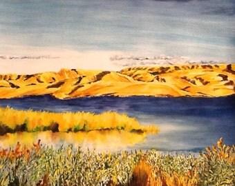 Across the Valley - Original Watercolor