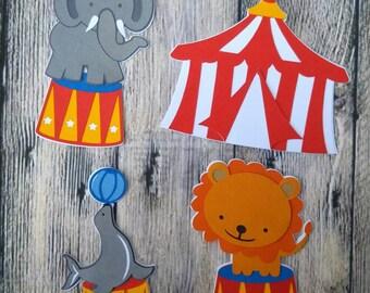 Carnival Birthday Decorations, Circus Birthday Decorations, Circus Die Cuts, Carnival Centerpiece, Circus Baby Shower, Circus Centerpiece