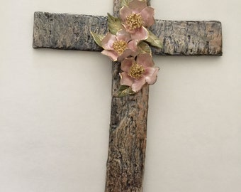 Handmade porcelain cross