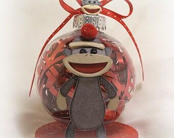 Sock Monkey Ornament A