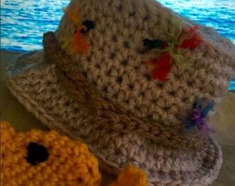 Newborn Fishing hat photo prop