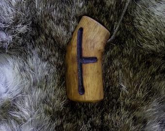 Celtic Ogham Birch/Beth Wood Pendant