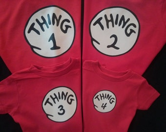 THING 1 THING 2 T shirt Dr. Seuss All sizes in stock ready to ship thing one thing two